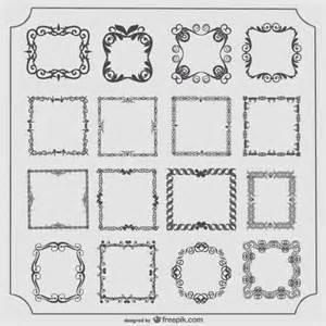 vintage frames vector set vector free download
