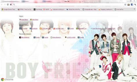 google chrome themes kpop exo boyfriend kpop chrome theme themebeta