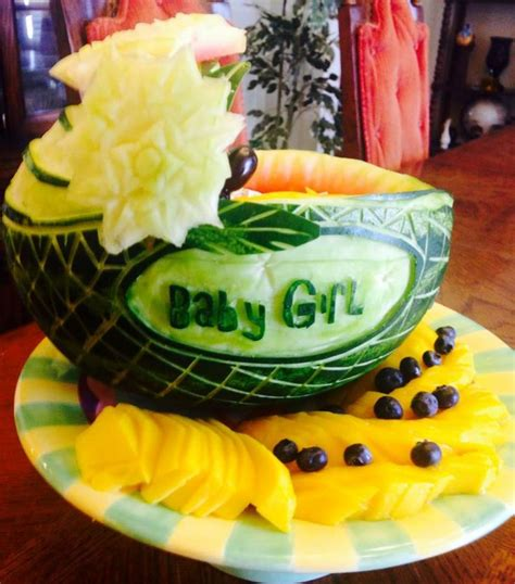 Watermelon Carving Baby Shower by Watermelon Carving Carriage Baby Shower Baby