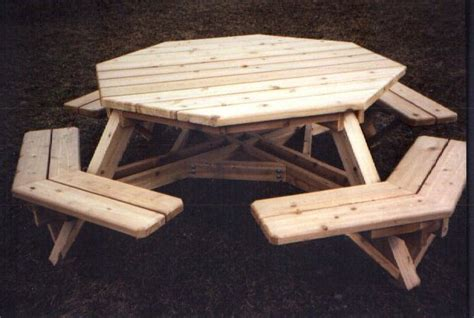 build plans octagon picnic table plan wooden outdoor bench