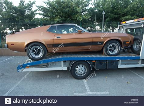 Brown Ford by 1970 S Brown Ford Mustang Mach 1 Recovery Truck Stock