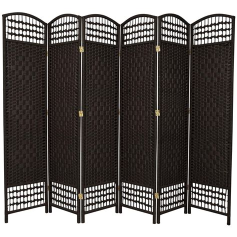 6 ft black 6 panel room divider fb dmnd blk 6p the home