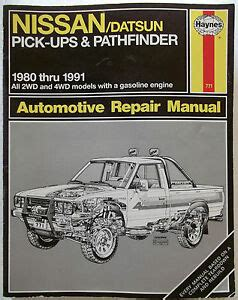 what is the best auto repair manual 1991 audi 80 windshield wipe control 1980 1991 nissan datsun pick up pathfinder automotive repair manual 2wd 4wd ebay
