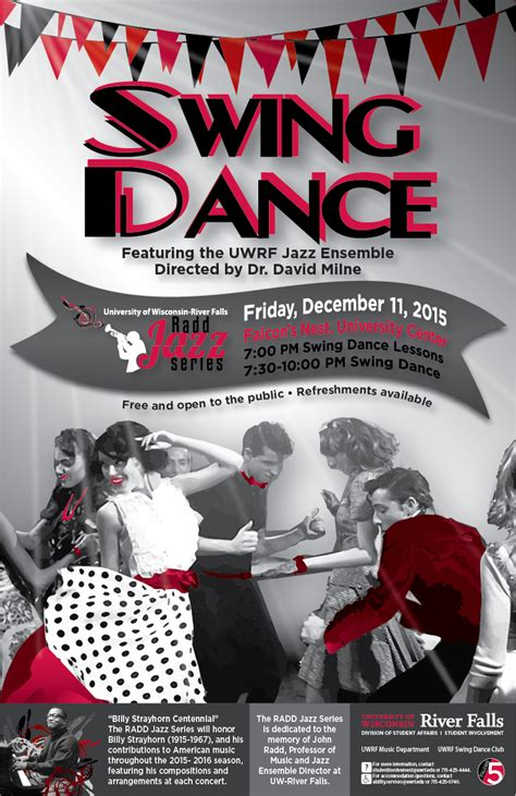 swing dance posters radd jazz series university of wisconsin river falls