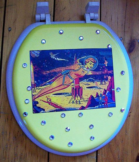 Pin Up Girl Toilet Seat Rockabilly Vintage 1950 S Retro Pin Up Bathroom Accessories