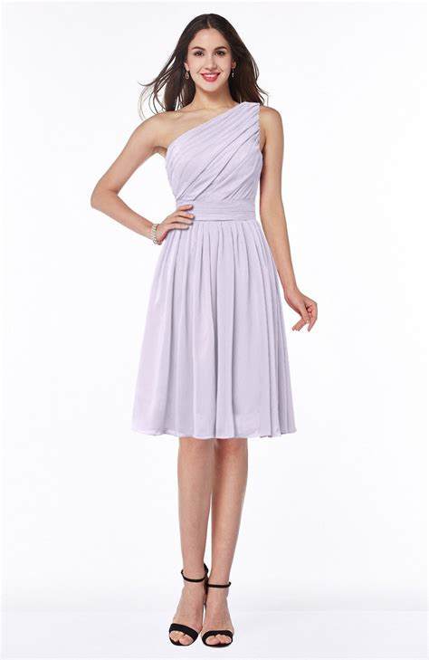 light purple plus size dress light purple bridesmaid dress simple a line one shoulder