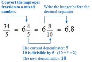 math converting between simple fractions and decimals