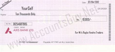 cheque bank account what will happen if the bearer in the cheque is not