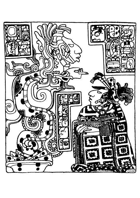 mayan coloring pages pdf maya aztechi e incas disegni da colorare per adulti