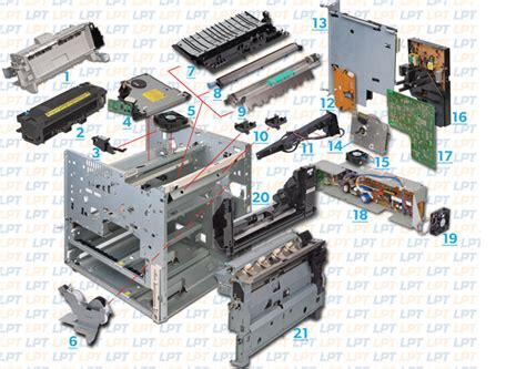 Parts Diagram For Laserjet 8000 5si