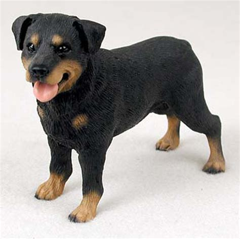 rottweiler figurine rottweiler painted collectible figurine