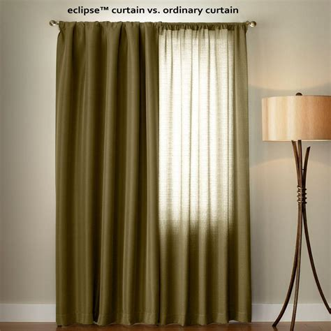 curtains 95 length eclipse microfiber blackout beige grommet curtain panel