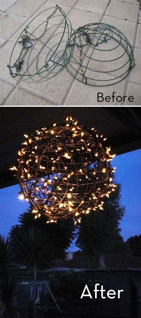 chandelier easy diy quot fairy light ball quot made from a