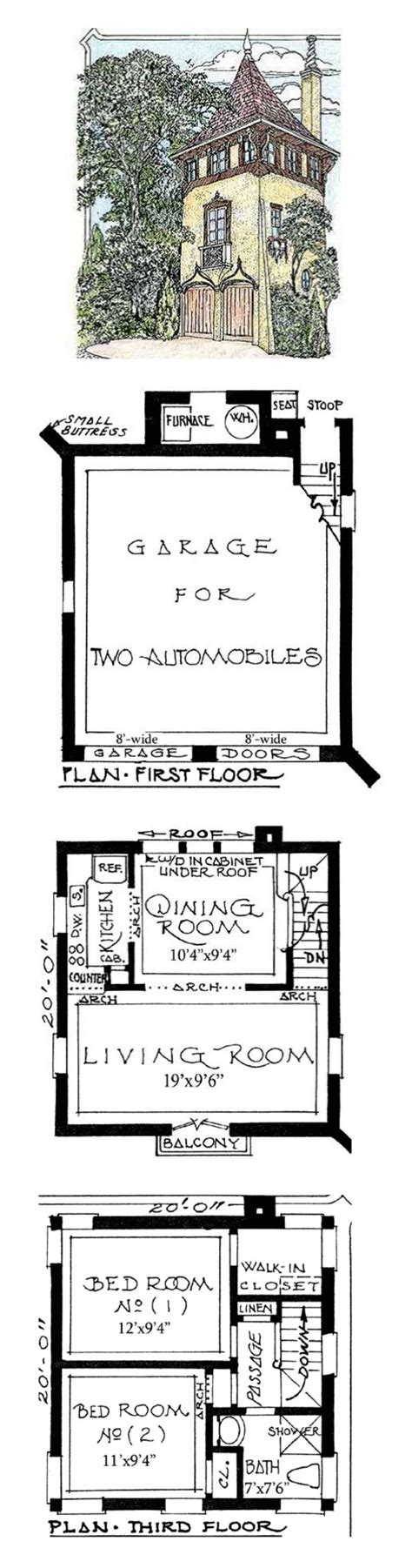 tower house plan architectural designs romantic carriage house plans