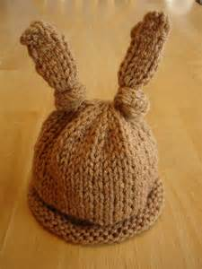 Fiber flux free knitting pattern baby bunny newborn or preemie hat