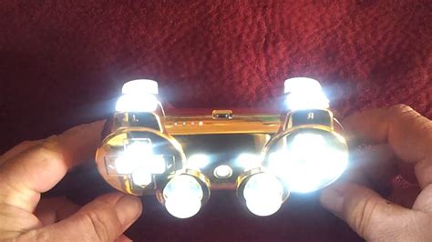 Ps3 Free Giveaway - free giveaway gold ps3 controller w white leds youtube