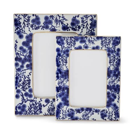 williams sonoma blue and white 3 piece ceramic canister blue and white ceramic frame williams sonoma
