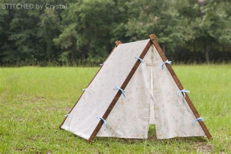 wooden tent collapsible fabric play tent for kids make it and love it