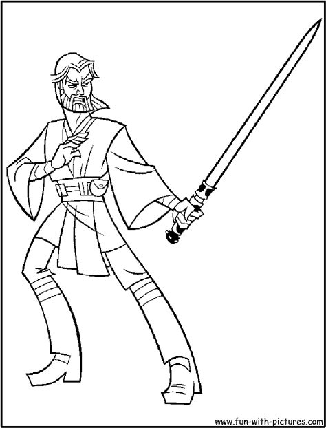 the gallery for gt obi wan anakin coloring pages