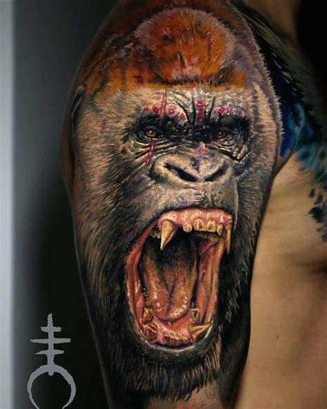 gorilla tattoo gorilla by el mori tattooartist at mori occultum