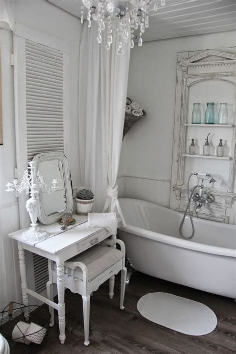 26 Adorable Shabby Chic Bathroom D 233 Cor Ideas Shelterness Shabby Chic Bathrooms Ideas