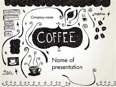 free doodle powerpoint templates coffee doodles presentation template for powerpoint and