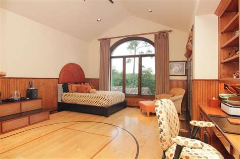 Basketball Themed Room Great Big Window To Enjoy The View Basketball Room