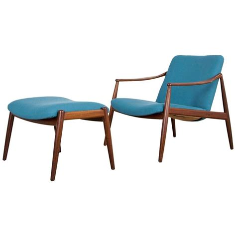 easy chair with ottoman hartmut lohmeyer teak easy chair with ottoman by wilkhahn