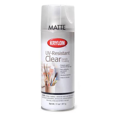 acrylic paint uv resistance krylon uv resistant clear matte acrylic coating
