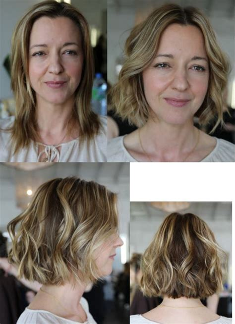 short hair before and after haircut before and after hair makeover long to short