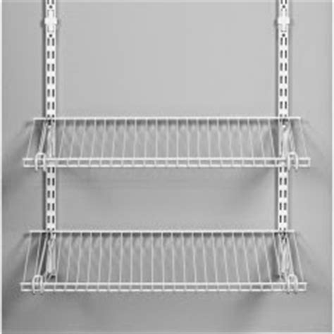 Closetmaid White Shelving Rail by Real Mod Closet Storage Systems Elfa Vs Rubbermaid Vs