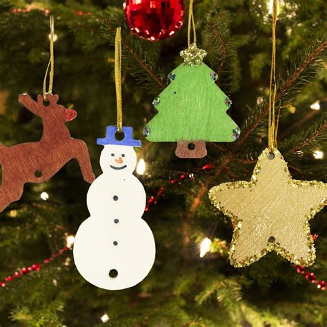 early for decorations wooden tree decorations pack of 54 from
