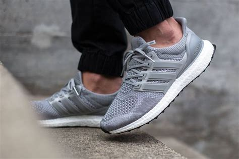 adidas ultra boost quot silver quot on foot