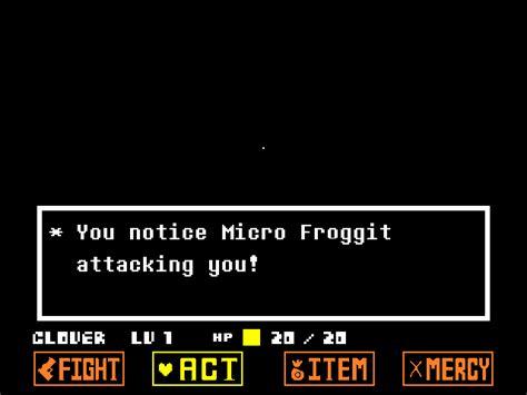 Micro Froggit | Undertale Yellow Wiki | FANDOM powered by ... Froggit Battle