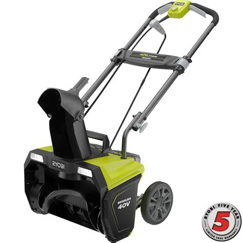 ryobi 20 in 40 volt brushless cordless electric snow