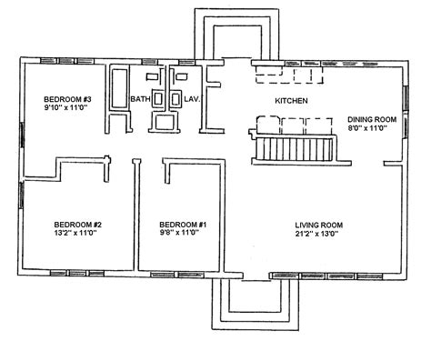 piedmont ranch style houses sle floorplans uva housing
