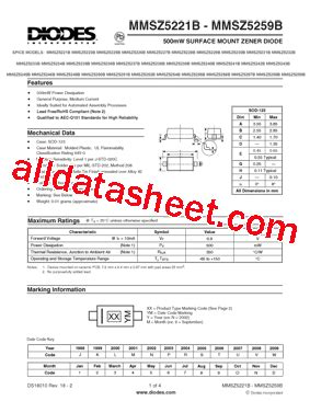 all zener diode datasheet pdf mmsz5245b 7 f datasheet pdf diodes incorporated