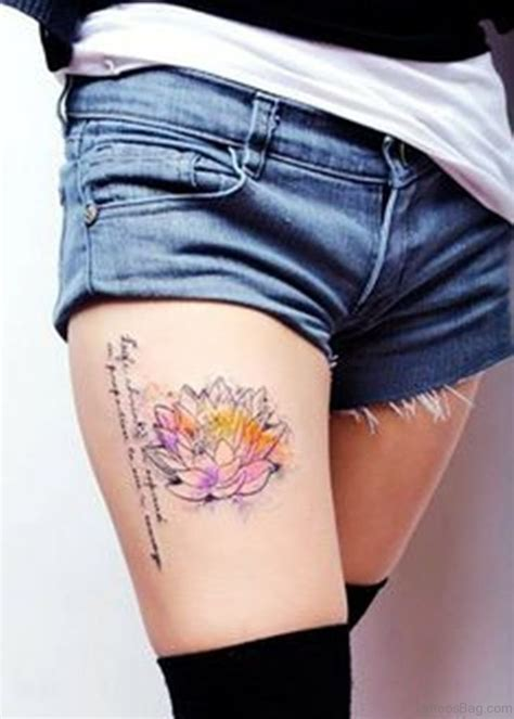 best thigh tattoos 45 best lotus flowers tattoos on thigh