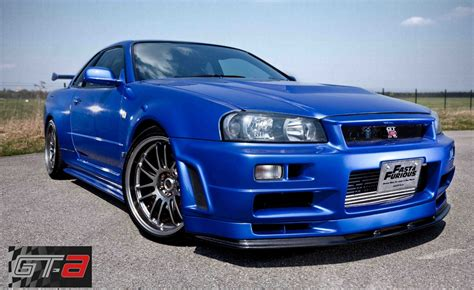 blue nissan skyline fast and furious paul walker s nissan skyline from fast and furious 4 for