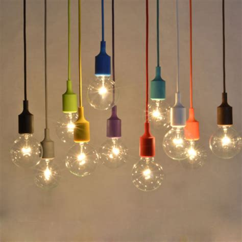 Colorful Light Fixtures Aliexpress Buy Muuto E27 E26 Pendant Light Design By Mattias Stahlbom Colorful Silicone