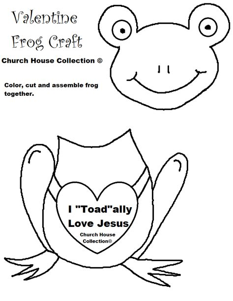 template of jesus church house collection i quot toad quot ally jesus frog craft cutout for