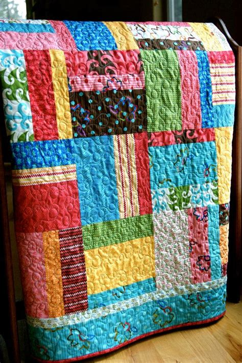 Handmade Quilts For Sale Etsy - playful fingerpaints handmade baby toddler quilt 150 00
