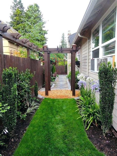 garden ideas for side of house mesmerizing narrow side yard landscaping ideas pics