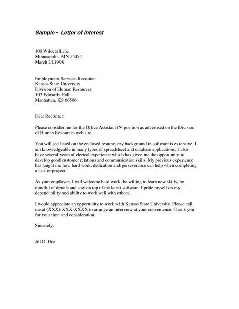 Business Letter Format Letter Of Interest Letter Of Interest Template Russianbridesglobal