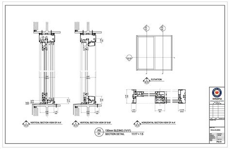 sliding door section dwg collection glass sliding door drawing pictures woonv com