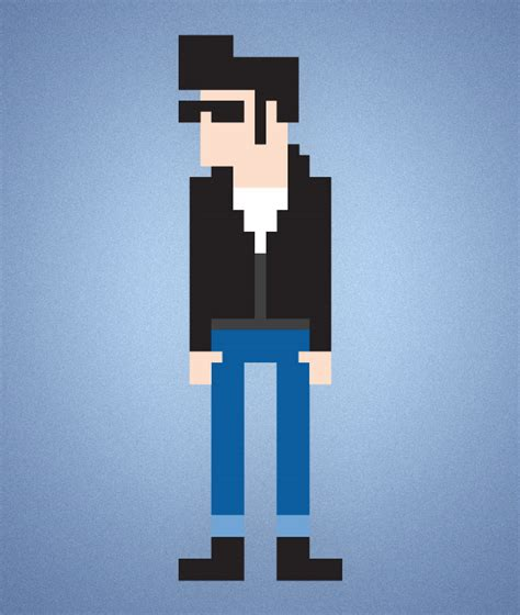 Drawing 8 Bit Characters by How To Create An 8 Bit Pixel Character In Illustrator