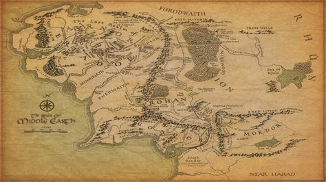 tolkien map middle earth map of middle earth wallpapers wallpaper cave