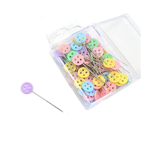 Patchwork Accessories - 100x patchwork pins flower button pins diy quilting