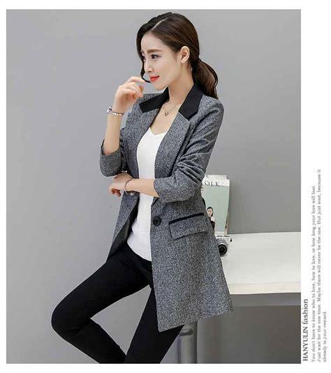 blazer murah wanita jaket korea nathalie blue 2017 blazer kerja wanita modis terbaru 2018 model terbaru