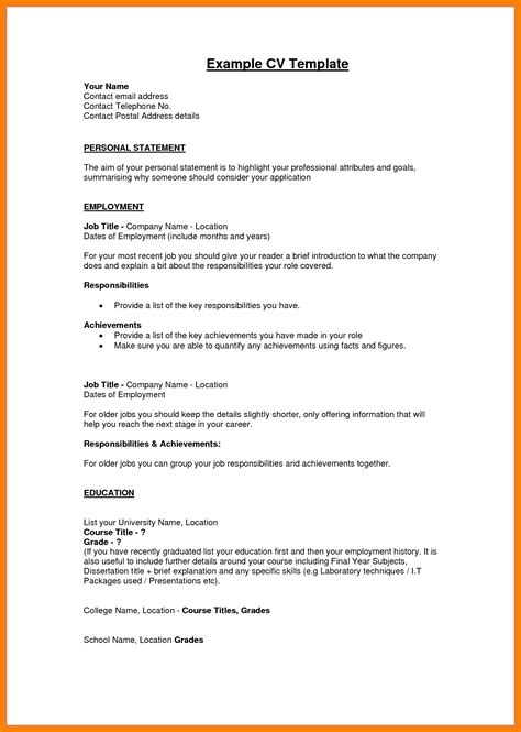 personal profile format in resume 5 personal profile exles address exle